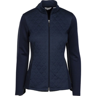 Greg Norman Ladies Sonic Quilted Knit Essential Jacket - NAVY