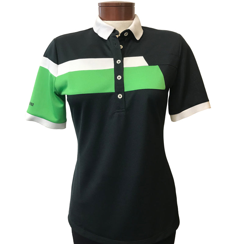 Colmar Women's Short Sleeve Top - Black/Green/White