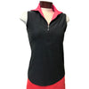JoFit Jacquard Fold Over Sleeveless-Heather Charcoal