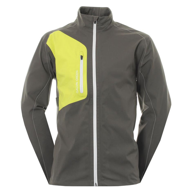 Galvin Green Mens ANGELO Paclite Gore-Tex Waterproof Jacket - BELUGA/LEMONADE