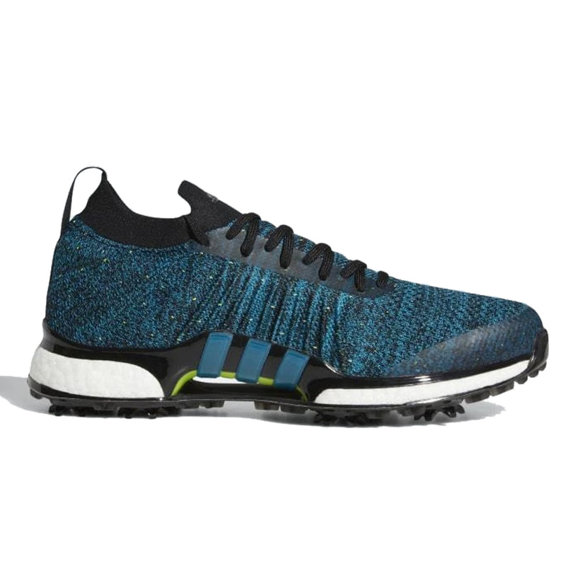 ADIDAS MEN'S GOLF TOUR360 XT PK SPIKED SHOES - CORE BLACK / ACTIVE TEAL / SOLAR SLIME