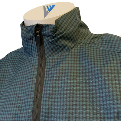 Levelwear Men's Packable Pullover Wind Pullover - Peacock Charcoal