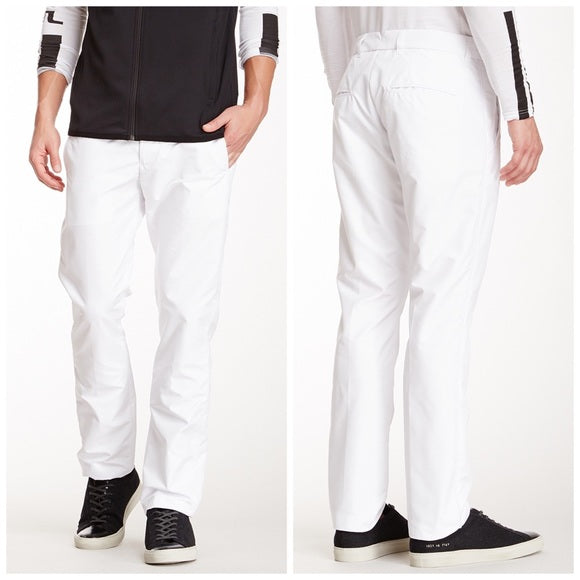 J Lindeberg Men's Gusten Narrow Micro Stretch Pants - WHITE