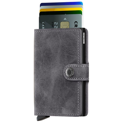 SECRID MINIWALLET - Vintage Grey-Black- IN STOCK