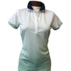 Colmar Women's Short Sleeve Top - Ombre Mint Green/White