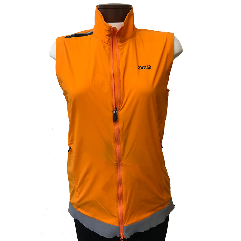 Colmar Women's Full Zipper Vest - Orange