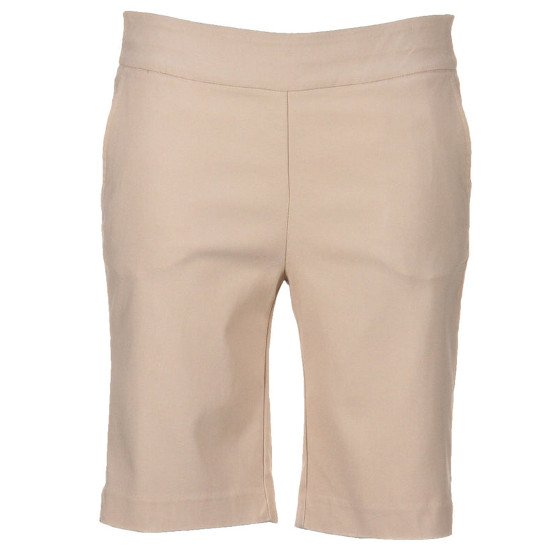 Greg Norman Ladies Perfect Fit Slimming Shorts - STONE