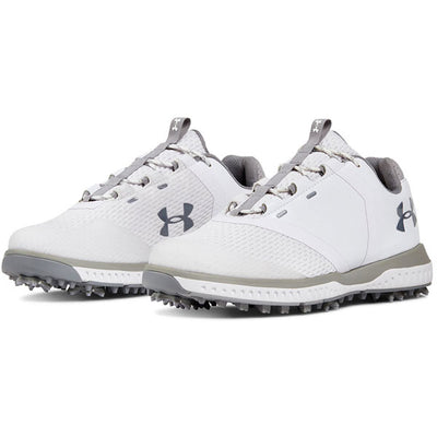 Under Armour Womens Fade RST Spikeless Golf Shoes - WHITE