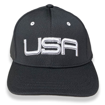 USA LTD EDITION PRO FITTED TOUR HATS - BLACK/SILVER/WHITE
