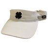 Black Clover - Visor - White Navy Clover White Trim