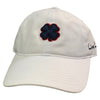 Black Clover Twill Adjustable Hat - White - Clover Navy Red Trim