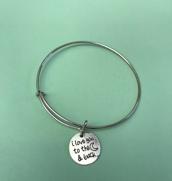 """I Love You to The Moon and Back"" Bracelets"