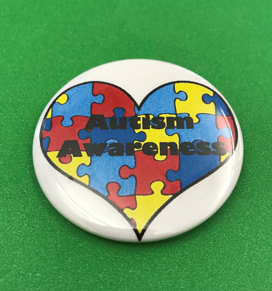 Autism Awareness Pin, Heart