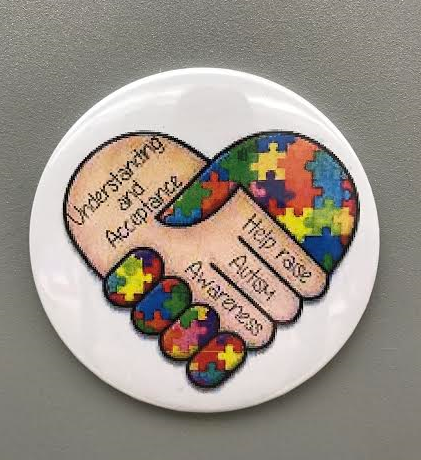 Autism Awareness Magnets, hands