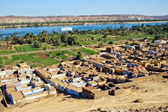 Farming Communities in Egypt Along Nile River