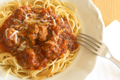 Oregano infused spaghetti sauce