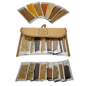 ORGANIC Indian Spice Set: 15 Whole / Ground Indian Spices & Seasonings