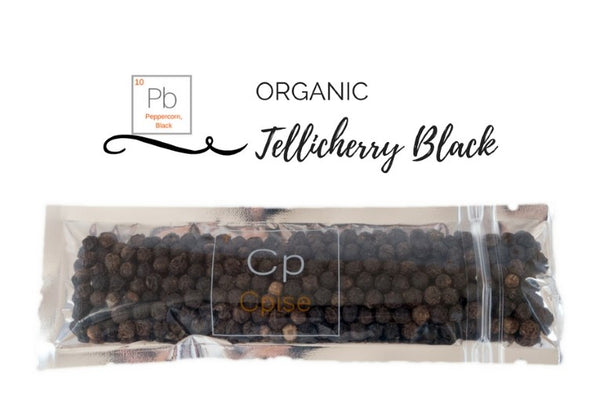 Organic Black Peppercorn, Tellicherry - Whole