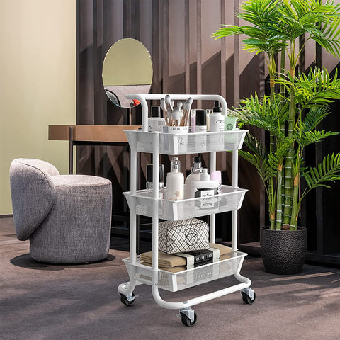 Rolling cosmetic cart