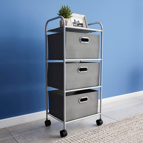 Large 3 Tier Cart with Drawers