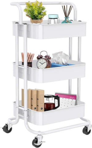 Three Tier Rolling Home Office Cart