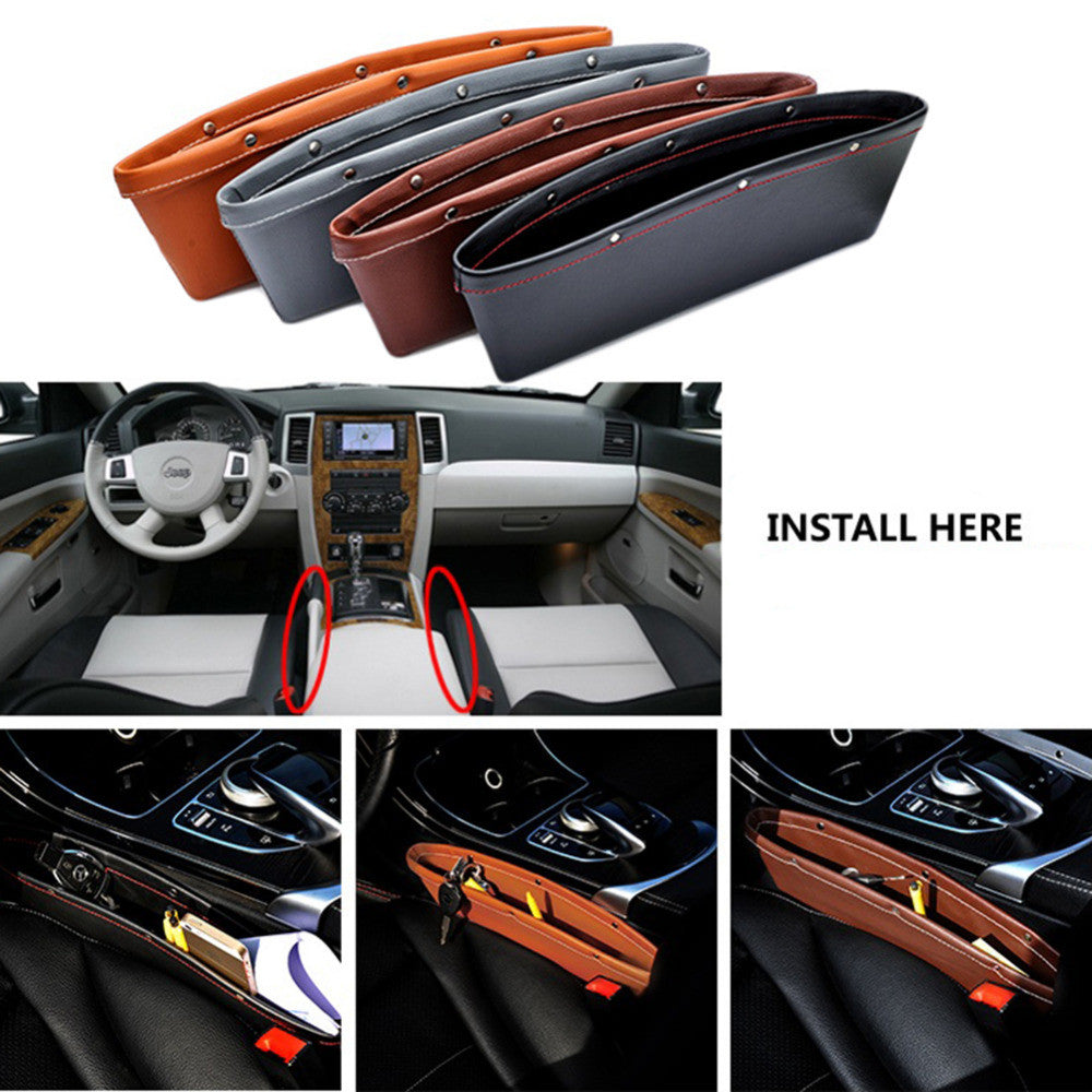 luxury vehicle front seat gap filler leather car organizers all about tidy. Black Bedroom Furniture Sets. Home Design Ideas