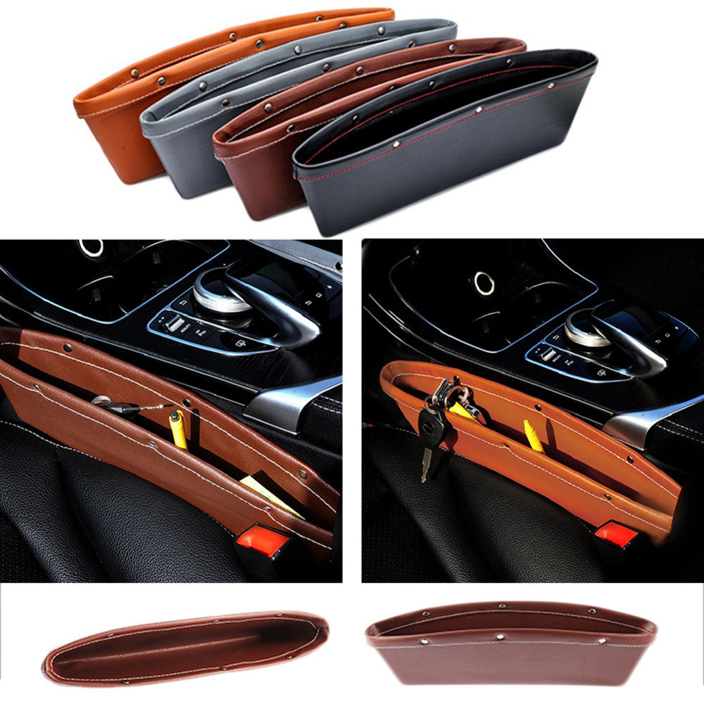 Luxury Vehicle Front Seat Gap Filler Leather Car