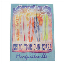 Margaritaville Bring Your Own Board Garage / Mancave Wall Art
