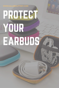 Headphone Earbud Hard Organizer Storage Travel Pouch