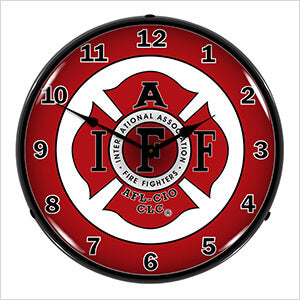 IAFF Firefighter Collectable Backlit Wall Clock