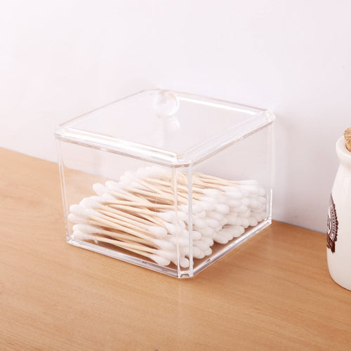 Clear Acrylic Q-Tip / Cotton Swab Storage Container