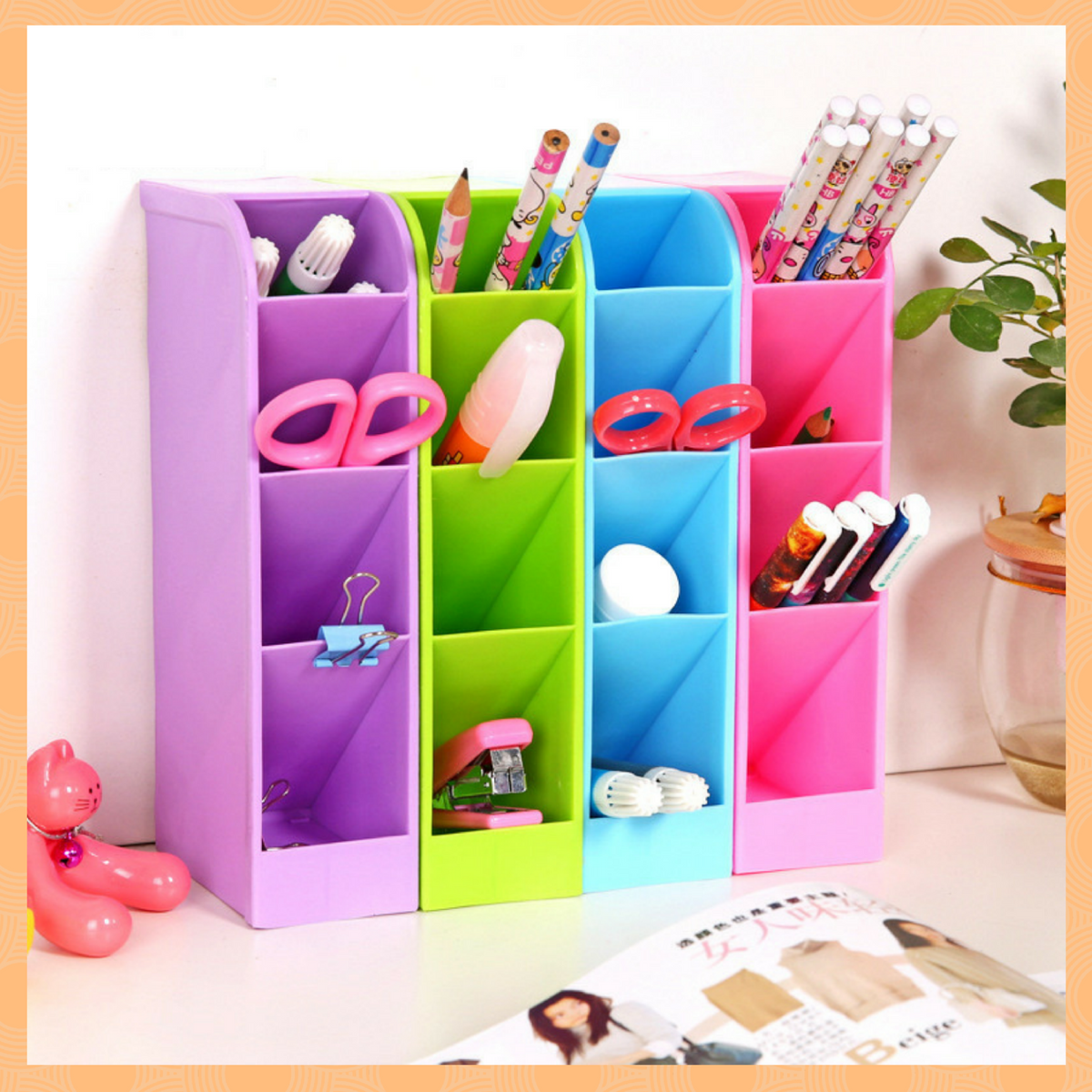 Ecofriendly Plastic Home Office / Drawer Storage Box