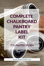 Cooking Gods Complete Chalkboard Pantry Organizing Label Set