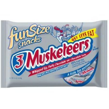 Mars 3 Musketeers Fun Size Candy Bars, 11 oz