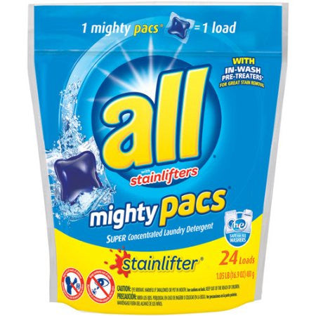 All Mighty Pacs 4X Concentrated Original Laundry Detergent 24 ct
