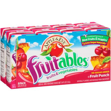 Apple & Eve® Fruitables® Fruits & Vegetables Fruit Punch Juice Beverage 8 ct Pack