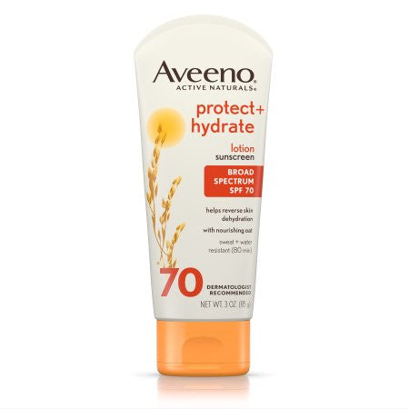 Aveeno Protect + Hydrate Lotion Sunscreen With Broad Spectrum Spf 70, Sun Protection, 3 Oz