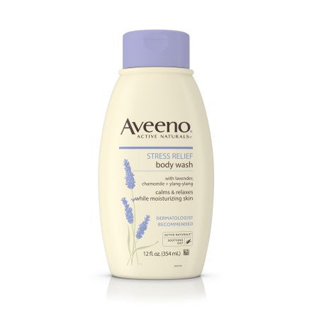 Aveeno Stress Relief Body Wash With Lavender, Chamomile And Ylang-Ylang Oils, 12 Fl. Oz