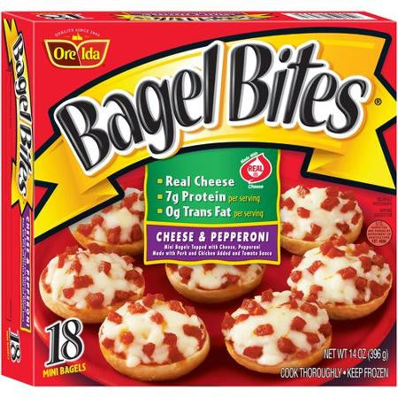 Bagel Bites Cheese Pepperoni Mini Bagels 18 Count 14 Oz 999