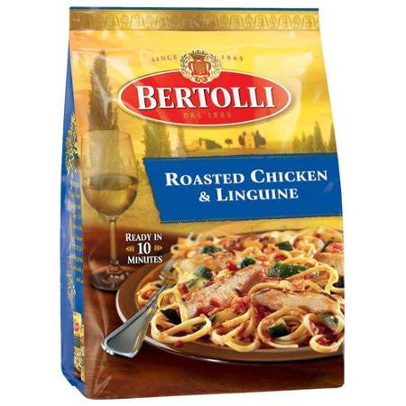 Bertolli Complete Skillet Meal For Two Roasted Chicken & Linguine, 24 oz
