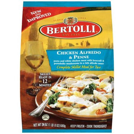 Bertolli Frozen Skillet Meal For 2 Chicken Alfredo & Penne 24oz