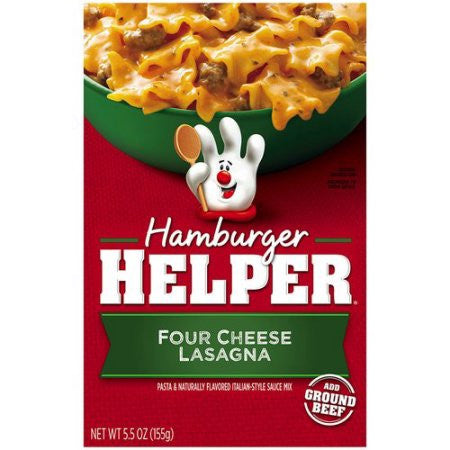 Betty Crocker Hamburger Helper 4-Cheese Lasagna, 5.5oz