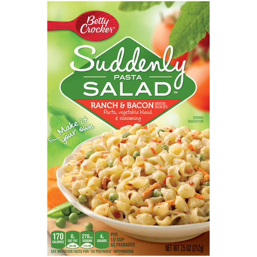 Betty Crocker Ranch & Bacon Suddenly Pasta Salad, 15oz