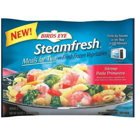 Birds Eye Steamfresh Meals For Two Shrimp Pasta Primavera W/Fresh Frozen Vegetables Frozen Entree, 24 oz