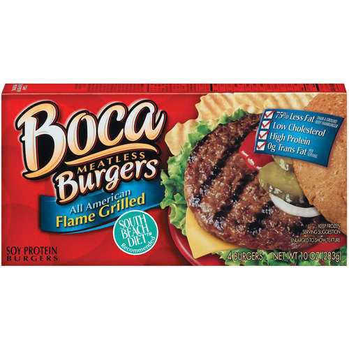 Boca: All American Flame Grilled 4 Ct Soy Protein Burgers, 10 oz