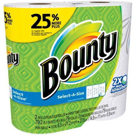 Bounty Select-A-Size Paper Towels, 79 sheets, 2 rolls