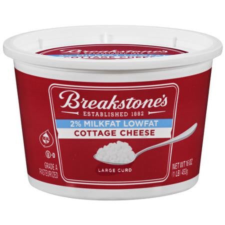 Breakstone's 2% Milkfat Large Curd Lowfat Cottage Cheese, 16 oz