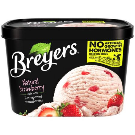 Breyers All Natural Strawberry Ice Cream, 48 oz