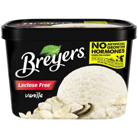 Breyers Lactose Free Vanilla Ice Cream, 48 oz