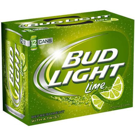Bud Light Lime Beer, 12 Fl Oz, 12 Pack Cans